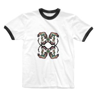 urisakachinatsu グラフィック Ringer T-shirts