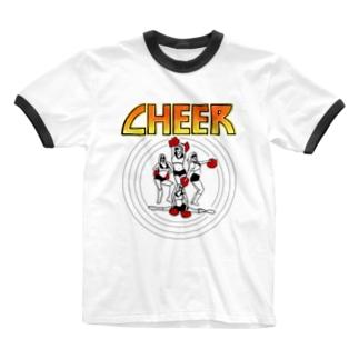 KISS CHEER キッスチア Ringer T-shirts