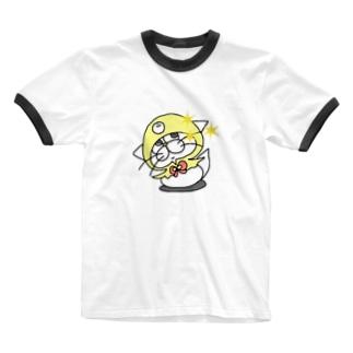 もち吉(仮)のキラりなグッズ Ringer T-Shirt