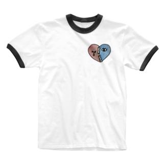ハート Ringer T-shirts