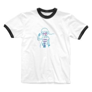 ネオンガール Ringer T-shirts