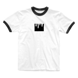 逆さまおばけ Ringer T-shirts