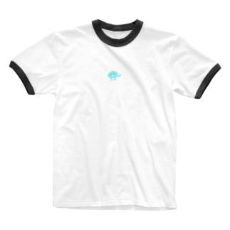 バリ小さいからほぼ目立たない恐竜もどき Ringer T-shirts