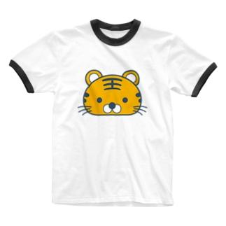 とらちゃん Ringer T-shirts