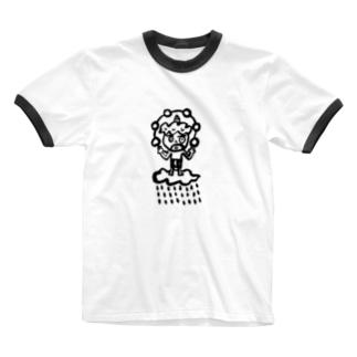 かみなりくん Ringer T-shirts