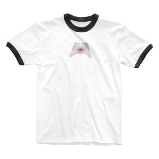纈珠✝︎の♥ 見てるよ ♥ Ringer T-shirts
