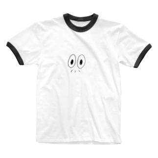 おじちゃんのかお Ringer T-shirts