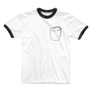ポケットトカゲ Ringer T-shirts