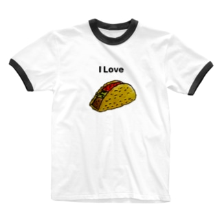 SHEEN'sのI Love Tacos タコス Ringer T-shirts