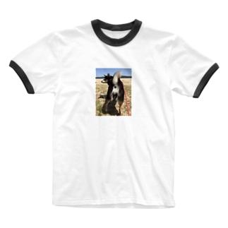 angie_kの黒柴さんのかわいいおしり Ringer T-shirts