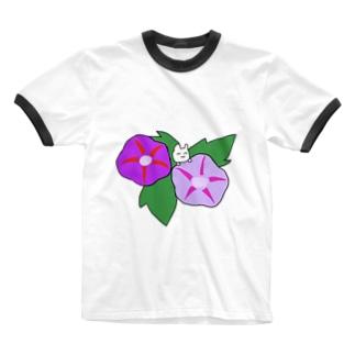 アジサイうさぎ Ringer T-shirts