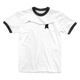 ペアTシャツ屋のシバヤさんのペアデザイン(Mrs)ガーランド Ringer T-shirts
