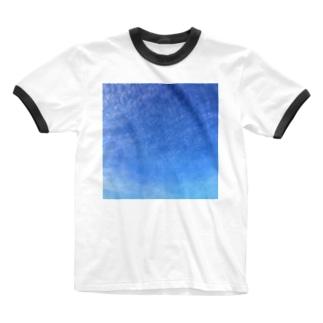 cirrocumulus うろこ雲 Ringer T-shirts