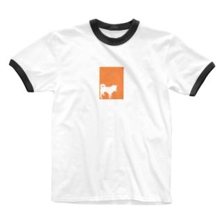 しばいぬさん12 Ringer T-shirts