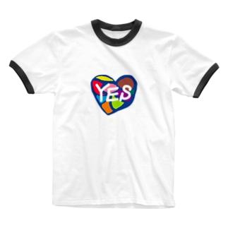 hitomi miyashitaのYES Ringer T-shirts