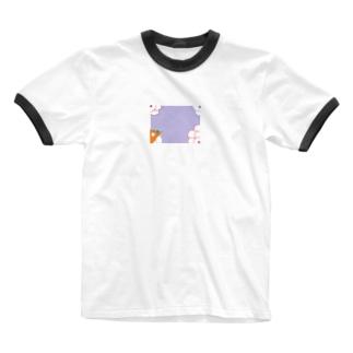 隠岐の昔の遊び Ringer T-shirts