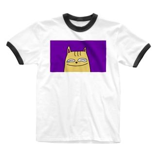 まめきち にたー Ringer T-shirts