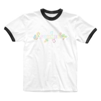 夏のポップなアイテム Ringer T-shirts