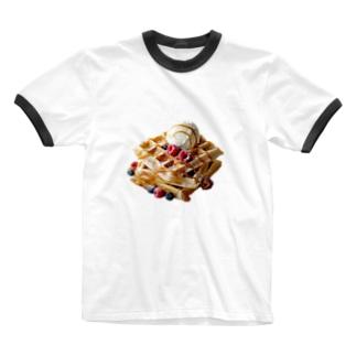 ポップ★ワッフル Ringer T-Shirt