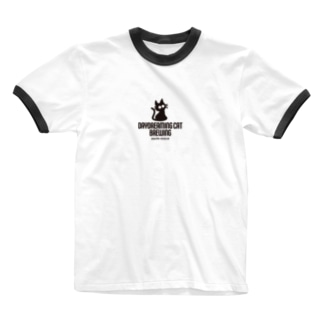 DaydreamingCatBrewing_logo Ringer T-shirts