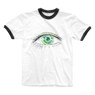 nyahoのおめめ Ringer T-shirts