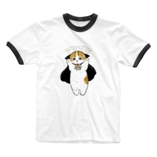 mofusandのドラキュラにゃん Ringer T-shirts