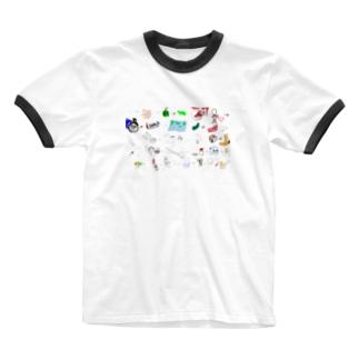 えしりとりTシャツ Ringer T-shirts