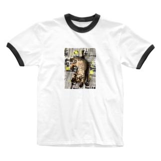 仔猫のtiro  Ringer T-shirts