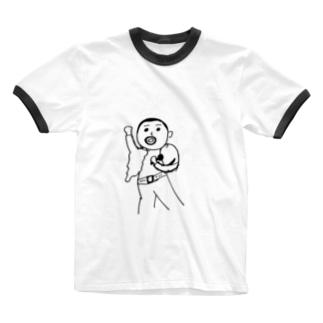 日本国籍のフレディー。 Ringer T-shirts