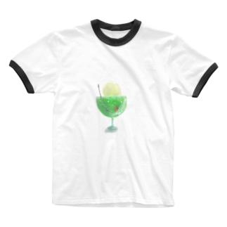【透過】ふわふわメロンクリームソーダ Ringer T-shirts