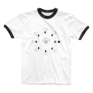 セカチュウ Ringer T-shirts