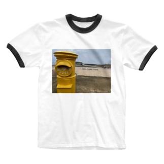海の郵便屋さん Ringer T-shirts