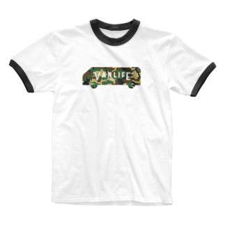 vanlife plus_logomark03 Ringer T-shirts