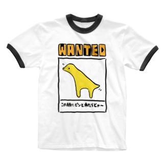 地上イルカ(やさしい) Ringer T-shirts