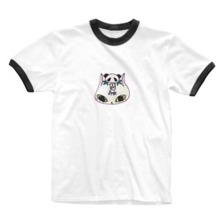 猫パンダ Ringer T-shirts