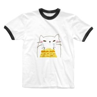 ネココ Ringer T-shirts