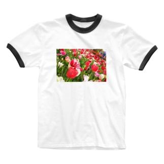 ちゅーりっぷ Ringer T-shirts