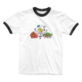 TANY SHOPのおぼん2 Ringer T-shirts
