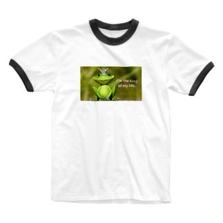 y's papa ハッピーフロッグ2 Ringer T-shirts