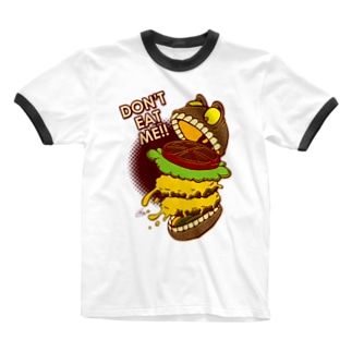The World of YELLOW JUNKIEのYELLOW JUNKIE 「食わないでくれ」 Ringer T-shirts