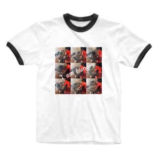 猫のロズ君 Ringer T-shirts