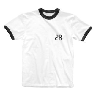 温度設定28℃ Ringer T-shirts