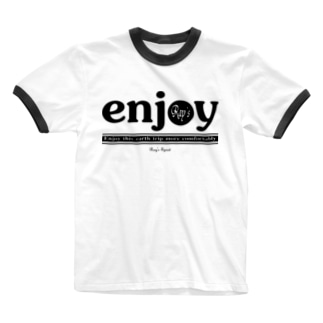 enjoy(BLACK) Ringer T-shirts