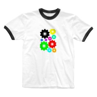 AIRのカラフル歯車 Ringer T-shirts