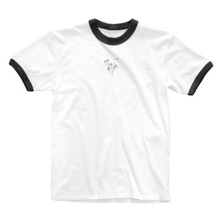 みずみずしいいきもの〈カスミソウ〉 Ringer T-shirts