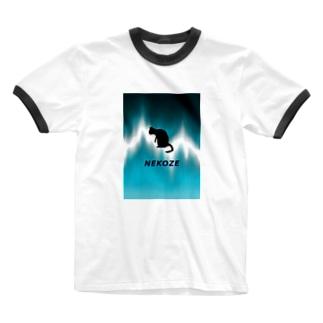 NEKOZEサイケ Ringer T-shirts