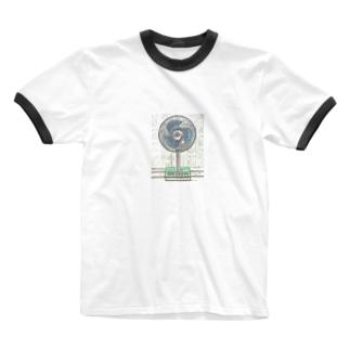 昭和の思い出 『扇風機』 Ringer T-shirts