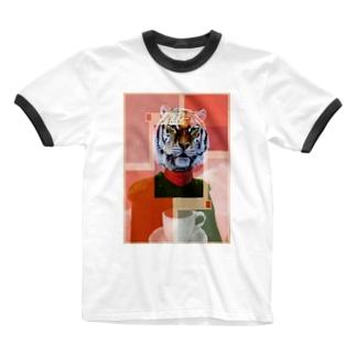 Danke Shoot Coffeeのアムトラコーヒー(リアル) Ringer T-shirts
