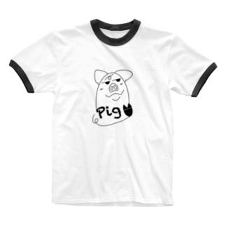 犯人はブタ〜pig〜 Ringer T-shirts