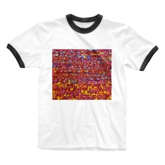 カヨラボ スズリショップの夕焼け/カヨサトーTX Ringer T-shirts